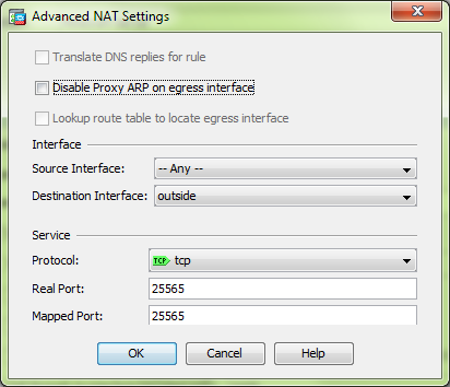 Cisco ASA setting up port forwarding using ASDM – Minecraft
